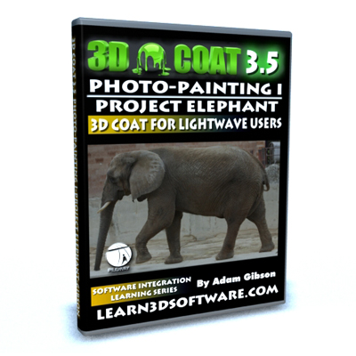 3D Coat 3.5 Photo Painting I-Paint an Elephant Using Photos
