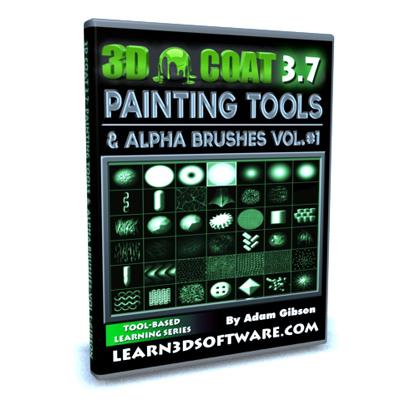 3D Coat- Painting Tools and Alpha Brushes Volume #1