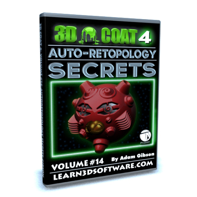 3D Coat 4- Volume #14- Auto-Retopology Secrets [AG]