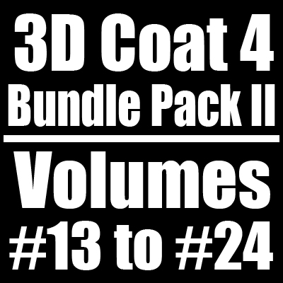 3D Coat 4 Bundle Pack II - Volumes #13 to #24