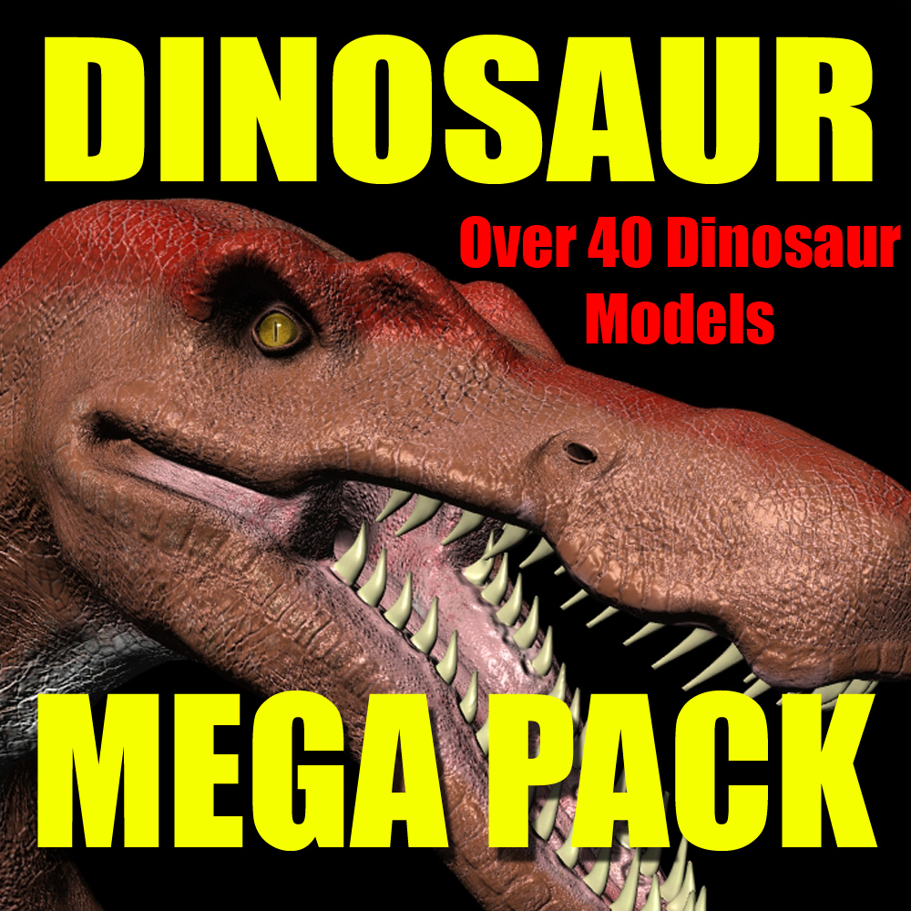 Dinosaur Mega-Pack (3D Model Collection)