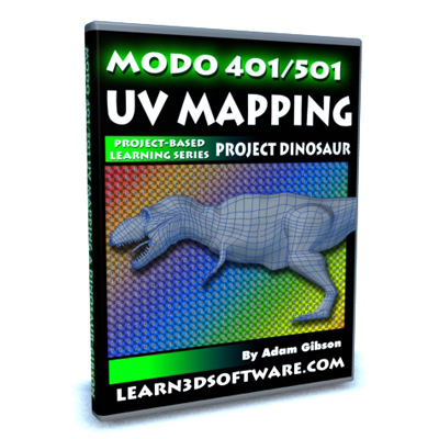 Modo 401/501-UV Mapping a Dinosaur