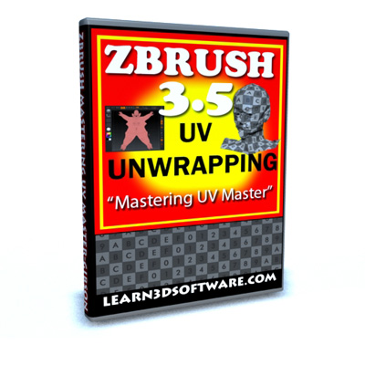 ZBRUSH 3.5 - UV Un-wrapping with UV Master