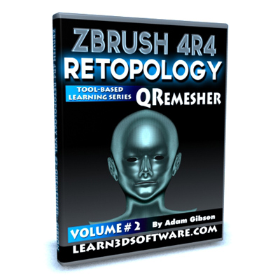 ZBrush 4R4- Retoplogy Vol.#2- QRemesher