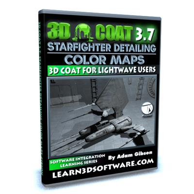3D Coat 3.7- Detailing a StarFighter Vol.#2-Color Maps
