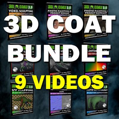 3D Coat Super Bundle Pack (9 Videos)
