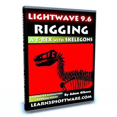 Lightwave 3D 9.6 Rigging a T-Rex with Skelegons
