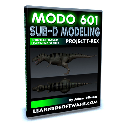 Modo 601-Sub-D Modeling a Dinosaur-Project TRex